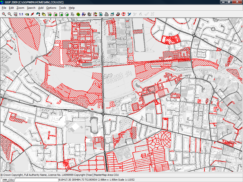 MasterMap COUs Mapped