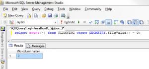 SQL Server query returns zero invalid geometries